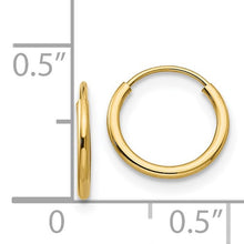 Load image into Gallery viewer, 14k Gold Baby Hoop Earrings