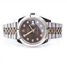 Load image into Gallery viewer, Rolex Datejust 41mm Everose Gold and Steel 126331 Diamond Dial, Watch,  - [Wachler]