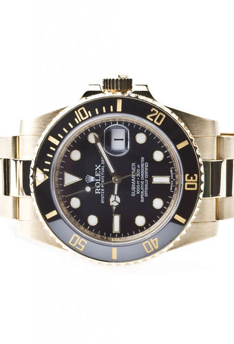 Rolex Submariner Ceramic 18k Yellow Gold Unworn 116618LN, Watch,  - [Wachler]