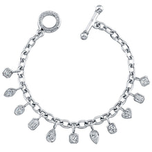 Load image into Gallery viewer, Mixed Shapes Diamond Charm Bracelet, Bracelet,  - [Wachler]