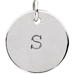 Sterling Silver Engravable Medium Disc Pendant, Pendant,  - [Wachler]