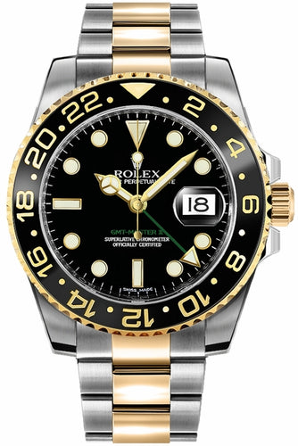 GMT-Master II Black Men's Watch 116713