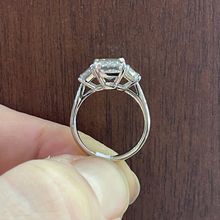 Load image into Gallery viewer, Three Stone Emerald Cut Ring