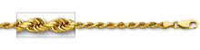 Load image into Gallery viewer, 14k Yellow Gold 4mm Diamond Cut Rope Chain