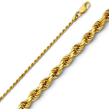 Load image into Gallery viewer, 14K Gold 1.5 mm Diamond Cut Rope Chain