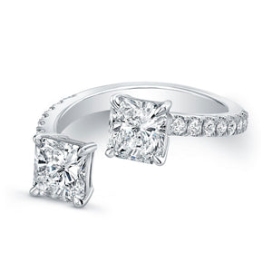 Double Square Diamond Fashion Ring, Fashion Rings,  - [Wachler]