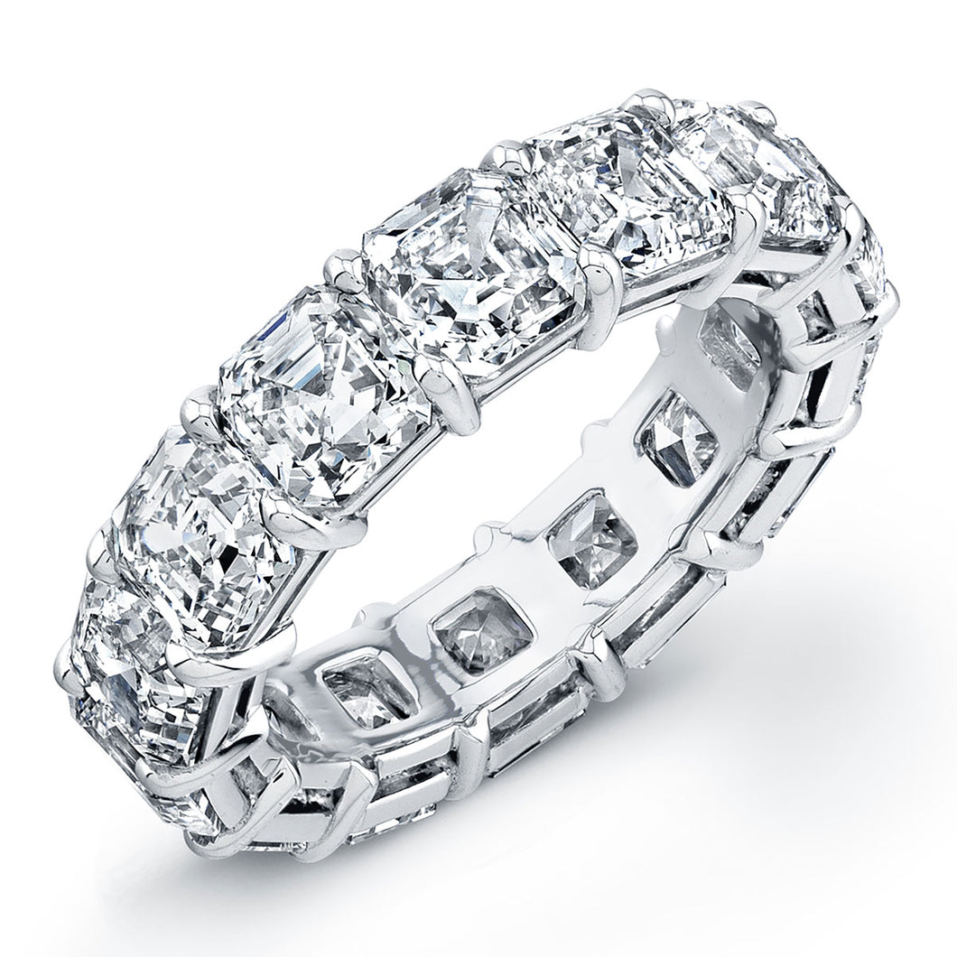 Asscher Cut Diamond Eternity Wedding Band, Wedding Bands,  - [Wachler]
