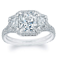 Load image into Gallery viewer, Radiant Cut Diamond Engagement Ring with Pave Halo, Engagement Ring,  - [Wachler]