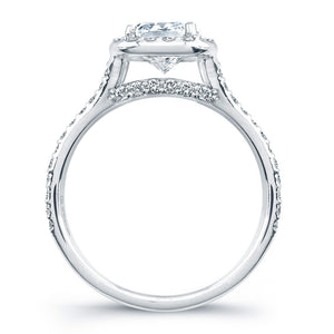 Cushion Cut Diamond Engagement Rings with Pave Halo, Engagement Ring,  - [Wachler]