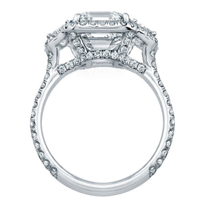 Asscher Cut Diamond Engagement Ring with Pave Halo, Engagement Ring,  - [Wachler]