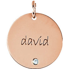 Load image into Gallery viewer, 14K Gold Engravable Extra Large Disc Pendant 19mm, Pendant,  - [Wachler]