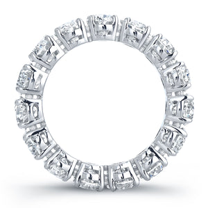 Oval Diamond Platinum Eternity Band, Wedding Bands,  - [Wachler]