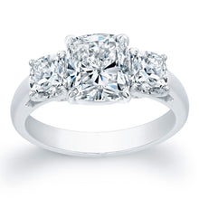 Load image into Gallery viewer, Triple Cushion Cut Diamond Engagement Ring, Engagement Ring,  - [Wachler]