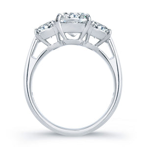 Triple Cushion Cut Diamond Engagement Ring, Engagement Ring,  - [Wachler]