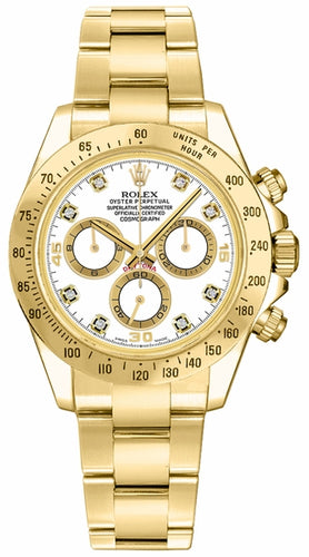 Cosmograph Daytona White Diamond Dial Watch 116528
