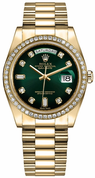 Day-Date 36 Green Ombre Dial Women's Watch 128348RBR