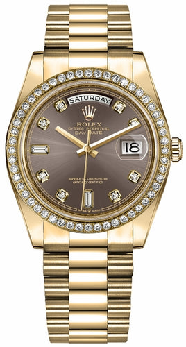 Day-Date 36 Diamond Hour Markers Women's Watch 128348RBR