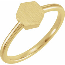 Load image into Gallery viewer, 14K Gold 9.5x8 mm Geometric Signet Ring