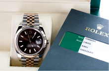 Load image into Gallery viewer, Mint Condition Pre Owned Rolex Two-Tone Datejust II Rose Gold Chocolate Index Dial Watch, Watch,  - [Wachler]