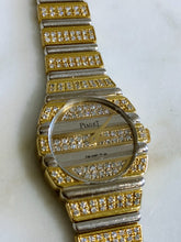 Load image into Gallery viewer, Vintage Piaget Polo in 18K Yellow & White Gold with Diamonds