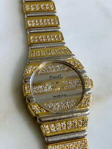 Vintage Piaget Polo in 18K Yellow & White Gold with Diamonds