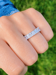 Radiant Cut Cut Eternity Band 5 CT