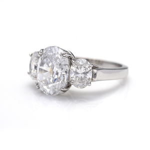 Three Stone Oval Ring, Engagement Ring,  - [Wachler]