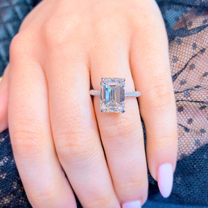 5 Carat Emerald Cut Diamond Ring, Engagement Ring,  - [Wachler]