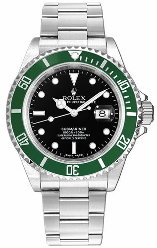 Submariner Date Kermit Black Dial Men's Watch 16610