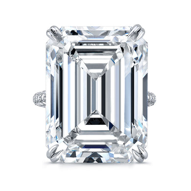 20 Carat Emerald Cut Engagement Ring, Engagement Ring,  - [Wachler]