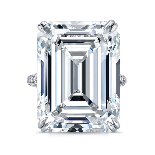 20 Carat Emerald Cut Engagement Ring