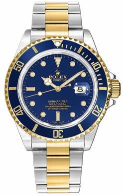 Submariner Date Blue Dial Men's Watch 16613LB