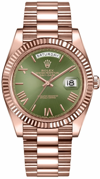 Day-Date 40 Green Dial Rose Gold Watch 228235
