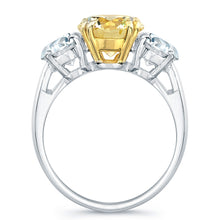 Load image into Gallery viewer, Round Fancy Yellow Diamond Engagement Ring, Engagement Ring,  - [Wachler]