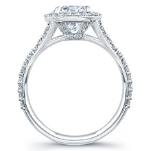 Load image into Gallery viewer, Round Diamond with Pave Halo Engagement Ring, Engagement Ring,  - [Wachler]