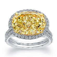 Load image into Gallery viewer, Fancy Yellow Oval Diamond Engagement Ring, Engagement Ring,  - [Wachler]