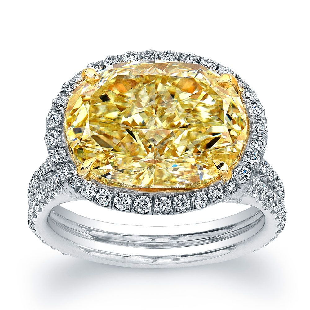 Fancy Yellow Oval Diamond Engagement Ring, Engagement Ring,  - [Wachler]