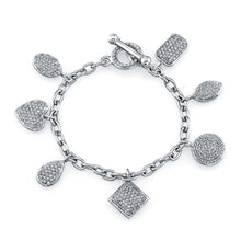 Load image into Gallery viewer, Mixed Shapes Pave Diamond Charm Bracelet, Bracelet,  - [Wachler]
