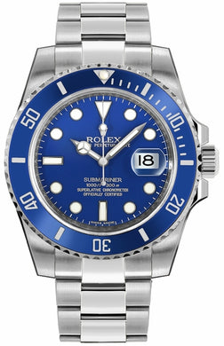 Submariner Date White Gold Men's Watch 116619LB