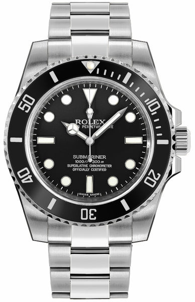 Submariner Men's Luxury Diver Watch Black Dial 114060