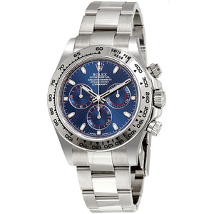 Cosmograph Daytona Blue Dial 18K White Gold Oyster Men's Watch