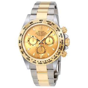 Rolex Cosmograph Daytona Champagne Dial Steel and 18K Yellow Gold Men's Watch