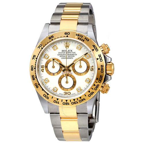 Rolex Oyster Perpetual Cosmograph Daytona White Diamond Dial Ladies Watch