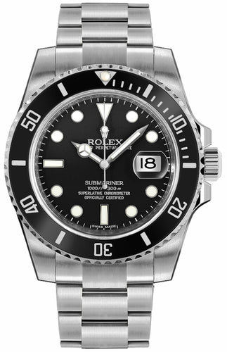 Submariner Date Black Dial Men's Watch 116610