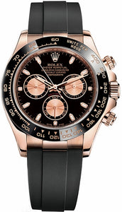 Cosmograph Daytona Black Rubber Strap Watch 116515LN