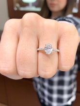 Load image into Gallery viewer, 1.30 Carat Oval Diamond Engagement Ring in 18k White Gold