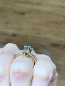0.70 Carat Diamond Cluster Ring in 14k Gold