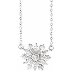 "14K 1/2 CTW Diamond Vintage-Inspired 16"" Necklace"