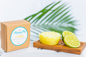 Citrus Natural Solid Shampoo for Normal to Oily Hair with Grapefruit Essential Oil and Papaya Seed Oil