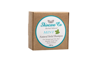 Argan Oil And Mint Natural Solid Shampoo for Normal to Oily Hair with Wild Thyme Extract